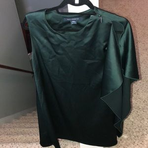 French Connection green drape dress